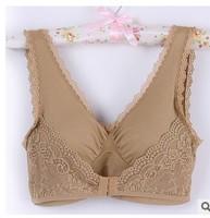 new 2014 women girls lace bra underwear breathable push up wire free everyday pregnant breastfeeding  pink black AZ132