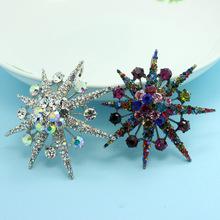 Luxury Brand Marriage Anniversary Broaches Bijuterias Fashion Women Wedding Jewellery Shiny Mystic Rhinestone Hijab Pins Bijoux