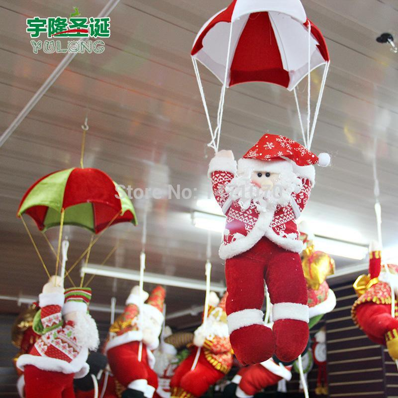 Christmas decoration parachute charm toy gift decoration christmas gift cloth christmas man, children's elegant small gifts toys(China (Mainland))