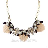 Created Gemstone Jewelry Choker Necklace For Women 2014 Female Wholesale Fashion Colar Feminino