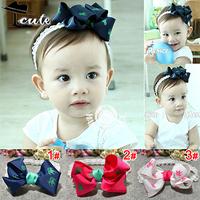 Kids Headbands Fashion 3 Colors Big bowknot Pattern Chirldren Accessories Beautiful Girl Headwear Baby Hair Accessories JF0091