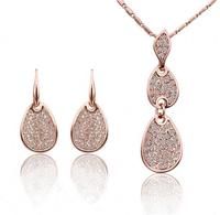 Wholesale 18k gold White Gold Plated  rhinestone fashion Jewelry Sets 1346