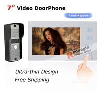 Luxuriously White Home 7 Inch TFT Touch Screen Color Video Door Phone Intercom Access System Night Vision Camera Free Shipping