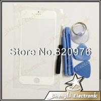 White Original Touch Outer Glass Lens Fron Screen Cover For iphone 6 + Open Tools