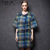 2014 winter fashion vintage marten velvet overcoat female long design loose marten velvet outerwear