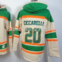 #20 Dino Ciccarelli ICE Hockey Hoodies New Jersey Dallas Stars #20 Ciccarelli Hoody Embroidery  Hoody