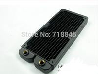 Computer water cooling radiator 240D water discharge pure Copper can set 2 fans exhaust heat exchanger cooled exhaust computer