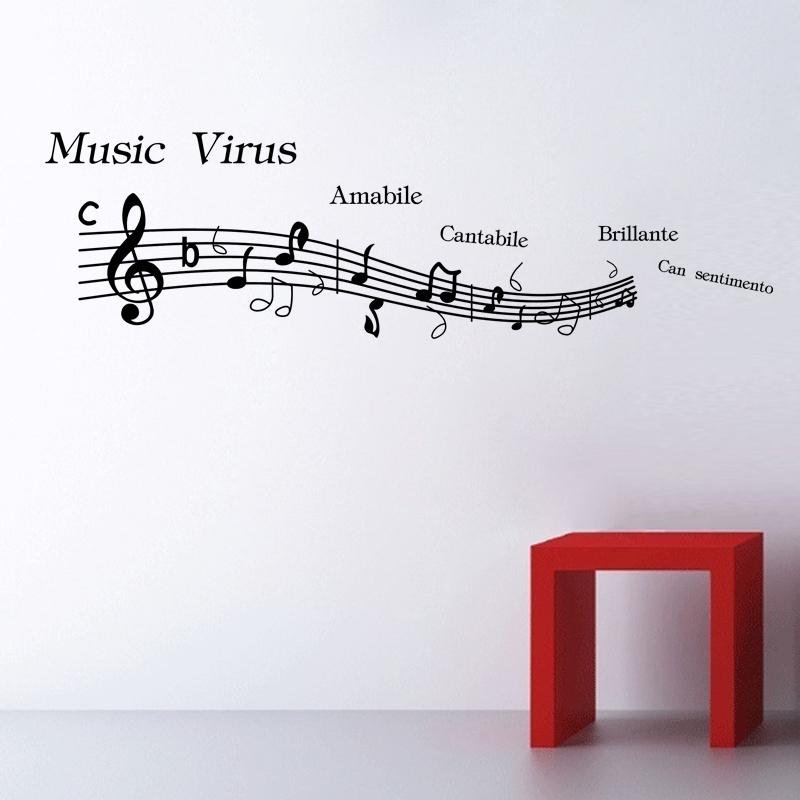 Music Wall Decor Sticker On Wall Decal Home Decor Art Mural Musical