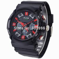 2014 ALIKE Military Sports Watch Waterproof 50M LED Analog Digital Watch Men Rubber Casual Dual display Wristwatch Quartz watch