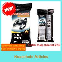 non-woven fabrics wet paper towels, disposable shoe with a wet towel, convenient and practical shoe wet paper towels