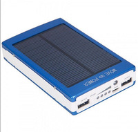 30000mAh Dual USB Portable Solar Panel Battery Charger Power Bank For Cell Blue