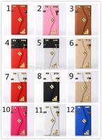 "50pcs/lot Rivet Zipper Flip Leather Case For iphone 6 4.7"" Wallet Case For iphone 6 Case 4.7 Inch DHL Fedex Shipping"
