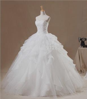 2015 элегантный принцесса пуховкой свадебное платье свадебное платье Vestido де
