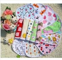 NEW Free Shipping 10pcs/Lot Cartoon Pattern Waterproof Baby Bibs Cotton Bibs Flower Bibs Animal Pattern Bibs Burp Cloth