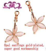 Jewelry flower petals - eye big circle earrings gentlewomen princess elegant accessories