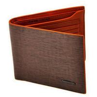 Stylish Brown Billfold Coffee Leather Wallet Credit Card Men Purse Clutch Bifold