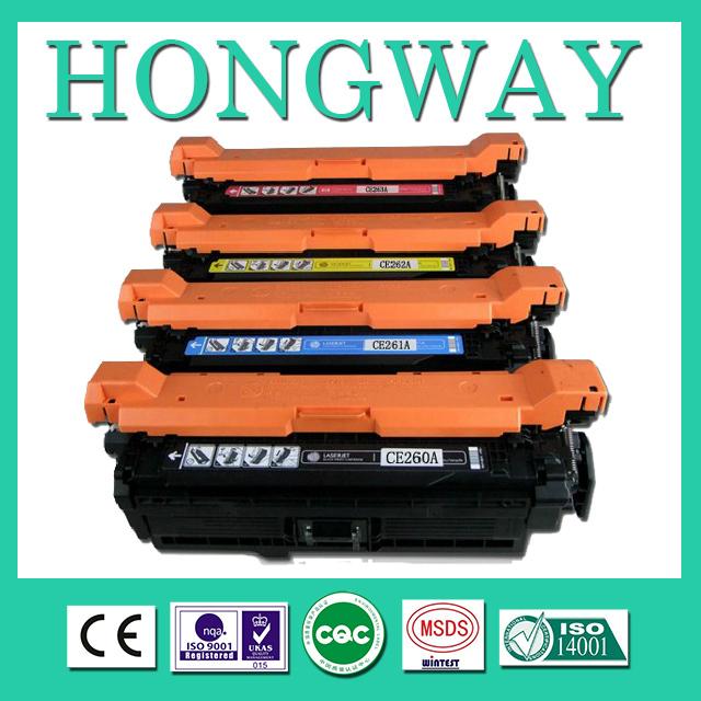 Compatible HP color laserjet CE260A CE261A CE262A CE263A, Replenishable toner e260a cartridge for HP CP4025(China (Mainland))