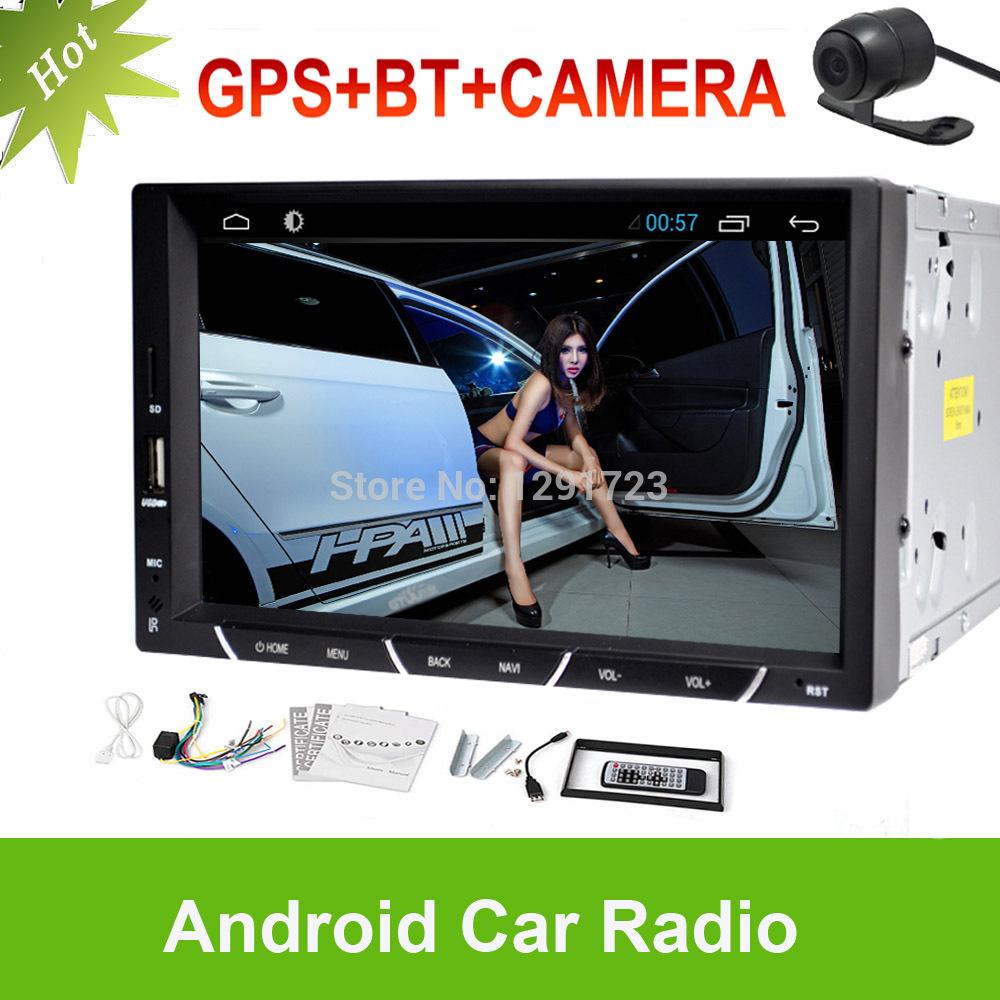 7'' Universal 2Din Android 4.2 Car Radio Video Player Android Car PC NO DVD GPS+Wifi+BT+Stereo+Capacitive+Audio+Headunit+Camera(China (Mainland))