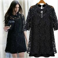 M-5XL 2014 New Summer High Quality Vestidos Women Clothing Casual Dresses Plus Size Slim Chiffon two-piece dress big yards