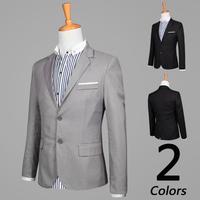 New Arrival Two Button Leisure Blazers Men, 2014 Korean Fashion IOUs decorative pocket Male Slim Fit Casual terno masculino
