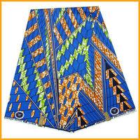 Free shipping ankara fabric 6yard/pcs african wax prints fabric blue color