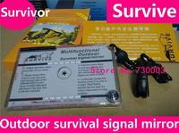 4-in-1 Survivor survive multifunction outdoor survival signal mirror mirror Outdoor survival essential for survival mirror