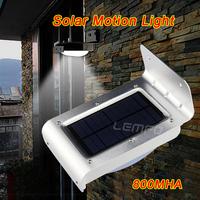 Solar Powered Energy Saving Motion Sensor LED Light Lamp with 16 Beads Lights 800mAh Li-ion Battery Outdoor Yard Wall Lamp