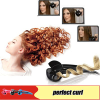 High quality New Automatic Tianium Curl Hair Styler Curl Curling Iron Salon Hair Machine Wands Universal voltage free shipping