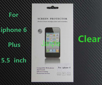 100 Sets 5.5 inch Transparent Screen Protector For iphone 6 Plus Clear Guard Film With Retail Package