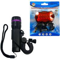 Black Bicycle Front Torch Warning lamp led Light 5 Watt Lumens LED free shipping 1Sets