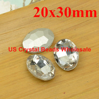 Free shipping! Wholesale 50pcs/lot 20x30mm oval crystal fancy stone 16 colour (can choose the color) F6801-6816