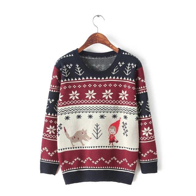 Punk Sweater Pattern Sweater Christmas Pattern
