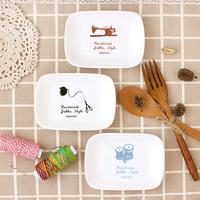 Ceramic rectangular plate dishs quality japanese style sushi dish condiment dish plate 61196