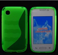 S Shape Wave Style Gel Soft TPU Cover For LG L35 / D150 L35Dual / D157F Case Wholesale with Free DHL Shipping