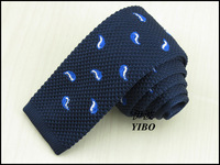 New men's knitted neck tie/white and blue Cashew desgin Han edition boy fashionable navy narrow ties