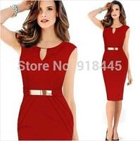 Plus Size XXL Sleeveless Elegant Bodycon Casual Women Summer Dress Brief Red Sequined Vestido Femininas Midi Office Dress LYQ21