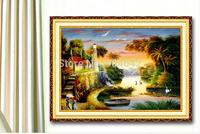 "Wall Home Decoration Cross Stitch Precision Printing  ""The Lake House "" Cross-Stitch Kit , DIY Cross Stitch Sets,"
