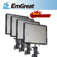 4* Aputure Amaran AL-528W CRI 95+ 528PCS Dimmable 3200K-5500K LED Video Light Panels Photography for Camcorder DSLR Cameras