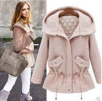 New Fashion women's warm Coat fashion design Women Slim Solid Zipper & button jacket free shipping