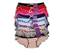 High quality swiss voile laces switzerland Charcoal transparent sexy female underwear medium waist princess cute girl panties