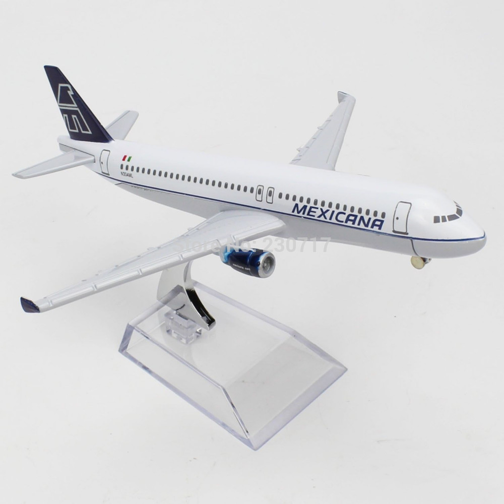 16cm Diecast AirPlane 1/400 Assembled Model Airbus320 Mexicana Airline Aircraft(China (Mainland))