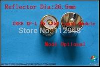 200pcs/Lot 26.5mm CREE XP-L V5 1-Mode ON-OFF OP/SMO 1350Lumen Drop-in Bulb/Module For 501B, 502B,M6 Flashlight