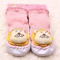 Free ShippingCotton Baby Socks With Animal Baby Outdoor Prewalker Princess Baby cotton Sock kid's giftFree&Drop ShippingDrop Shi