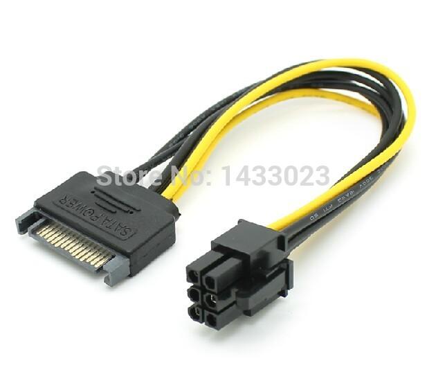 6 Pin Power Supply Power Supply Sata to 6 Pin
