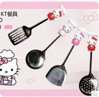 Hello Kitty 4pcs/set Cookerware set stainless steel kitchen tools set diningware