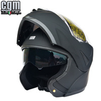 Free shipping!CGM motorcycle helmets double lens full face helmet vintage flip up racing capacete with inner sun visor ECE