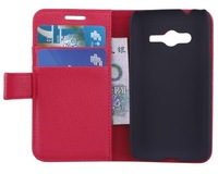1PCS  Lichi Wallet Leather Case Cover For Samsung GALAXY Ace 4 Lite SM-G313H  with stand and card slot