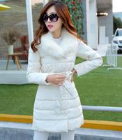 NEW 2014 hot winter jacket women keep warm winter down jacket women's coat winter clothing fashion belt long Fur collar clothes