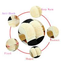 1pair/lot Keep Warm Kneepad For winter Imitation Wool Outdoor Sports Kneepad Football Volleyball Knee Protector Pads 673427