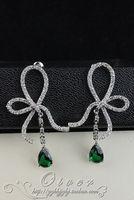 gold crystal green drop  lady's earings (5*2cm) (gghhjjghj)